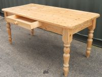 Victorian Style Farmhouse Pine Kitchen Dining Table